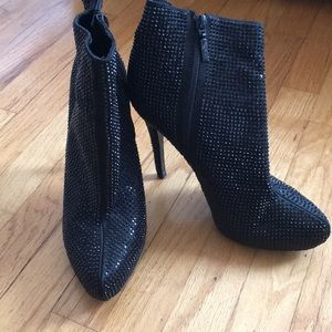 Sequin ankle boots